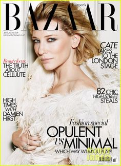 Harper's Bazaar UK. Cate Blanchett. April 2012.