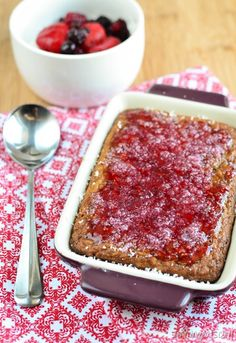 Slimming Eats Jam and Coconut Sponge Cake - gluten free, dairy free, vegetarian, Slimming World (SP) and Weight Watchers friendly