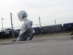 A street installation by David Mesguich