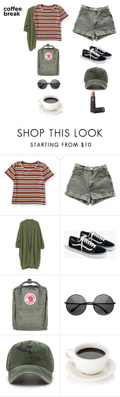 """coffee break"" by xoxotiffvni on Polyvore featuring Aéropostale, American Apparel, Gap, J.Crew, Fjällräven, Forever 21, Lipstick Queen and coffeebreak"