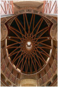 cúpula de la Universidad Laboral de Gijon, Asturias., Spain