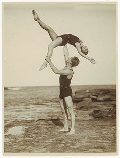 acrobats, sydney, 1930s. photo taken by sam hood. via state library of new south wales flickr site (there are tons of other gems in their flickr collection as well)