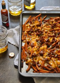 Hmmm might have to try. sweet potato fries with andouille gravy and pimento cheese