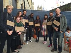 Our Graphic Design team prior to the Stickhouse performance underneath Temple Meads station in Bristol.