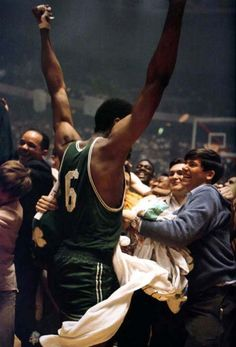 May 2, 1968 - Bill Russell won his first NBA title as player-coach of the Celtics when Boston defeated the host Los Angeles Lakers 124-109 in Game 6 of the NBA Finals.