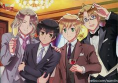 Axis Powers: Hetalia, France, Japon, England & America