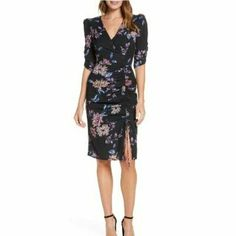 Evening Dresses Plus Size, Plus Size Dresses, Nice Dresses, Dresses For Work, Chiffon, Eliza J Dresses, Faux Wrap Dress, Crepe Dress, Spring Dresses