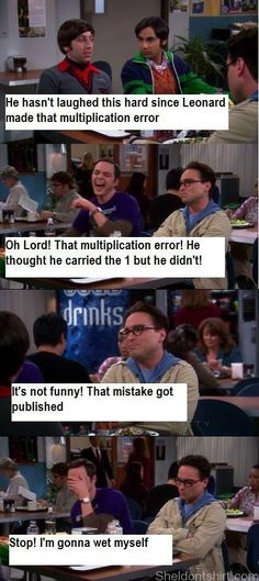 Quotes - Page 9 - Sheldon's Fans Website - Big Bang Theory – multiplication error  #TBBT