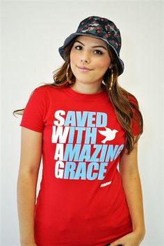 """SWAG= Saved With Amazing Grace Christian T-Shirt is based on Ephesians 2:8 For it is by grace you have been saved, through faith--and this not from yourselves, it is the gift of God--."""" One of our best sellers!"""