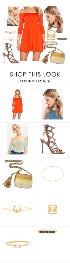 """""""Bez tytułu #18376"""" by sophies18 ❤ liked on Polyvore featuring Rachel Pally, Urban Outfitters, Schutz, Gucci, CAM, Vanessa Mooney, Amarilo and Melanie Auld"""