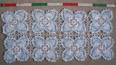crocheted runner | 1225. English Domestic Crochet Table Runner | Lace For Study