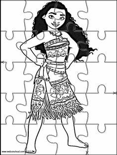 Puzzles Rompecabezas recortables para imprimir para niños Vaiana - Moana 8