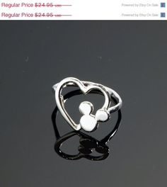 ON SALE Disney Ring  Mickey Mouse Ring  by TheJewelryGirlsPlace, $19.96