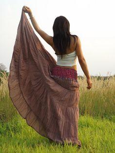 Boho Long Skirt   .....Long Skirt  ...Color Peach