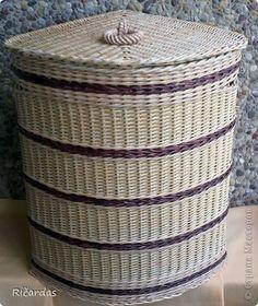 Поделка изделие День рождения Плетение Подарок Бумага газетная Трубочки бумажные фото 3