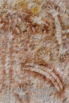Aboriginal wall painting Carnarvon Gorge, Central Queensland Australia