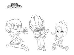Collection Of PJ Masks Coloring Pages Idea - Free Coloring Sheets Pj Masks Coloring Pages, Free Coloring Sheets, Cartoon Coloring Pages, Printable Coloring Pages, Colouring Pages, Coloring Pages For Kids, Coloring Books, Pj Masks Printable, Party Printables