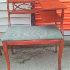 Antique Phone Stand With Bench | Finders Keepers: A new and used furniture, and antique emporium in Salina, KS