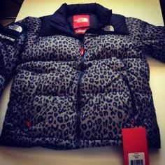 Leopard The North Face coat<3<3