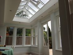 Timber Roof Lantern, windows and doors made by Medina Joinery