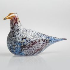 2017, Oiva Toikka, White&Brown Goose, one-of-a-kind, blown during the event in the Corning Museum of Glass, Corning, NY in September 2017 (Photo: CMOG)