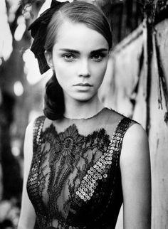 Black dress.