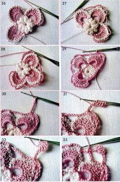 Irish crochet motif step by step Mais Crochet Paisley, Irish Crochet Patterns, Crochet Motifs, Freeform Crochet, Tunisian Crochet, Crochet Art, Love Crochet, Crochet Designs, Crochet Flowers