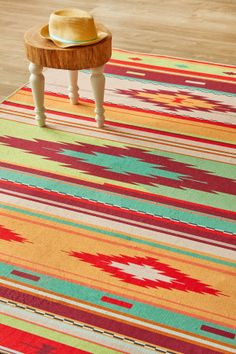 Kelim Bright: 1.5 X 2.3 metres. Printed Polyester. Please note that, as these printed rugs are...