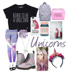 """Unicorn Obsession"" by skylarmack8 ❤ liked on Polyvore featuring Estella Bartlett, Miss Selfridge, Dr. Martens, The Gypsy Shrine, Lime Crime and Pinch Provisions"