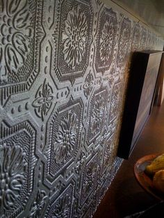 Painted Wallpaper Backsplash I M Thinking Of Doing This In My Kitchen