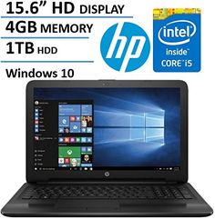 HP Pavilion 15.6 Inch HD Display Premium Laptop Computer (Intel Core i5-6200U up to 2.8GHz 4GB RAM 1TB HDD USB 3.0 HDMI DVDRW Wifi RJ45 Webcam Windows 10 Home) (Certified Refurbished) http://ift.tt/2l5w7gC