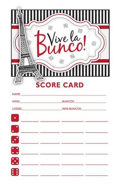 Bunco theme for S&U ladies | Random | Pinterest | Bunco themes ...