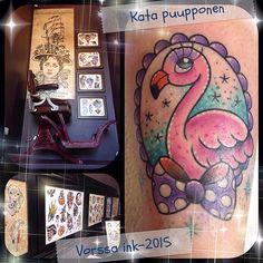 https://www.facebook.com/VorssaInk/, http://tattoosbykata.blogspot.com, #tattoo #tatuointi #katapuupponen #vorssaink #forssa #finland #traditionaltattoo #suomi #oldschool #pinup #umbrella #flamingo