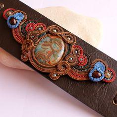 One of a kind wide faux leather soutache door DILETTANTEsoutache, $395,00