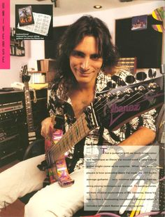 Superb pic of Steve from the 1992 Ibanez catalog.