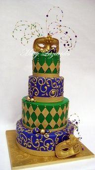 mardi gras cakes - Google Search