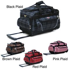 CalPak Champ Plaid 21 Inch Carry On Rolling Upright Duffel Bag    Overstock.com You 7ae03e4f6b