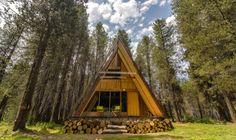 The Red A-frame Cabin: Your Small Space Dream?
