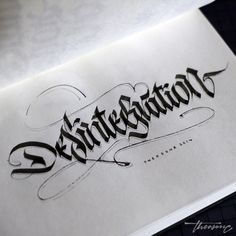 calligraphi.ca - desintegration - parallel pen and pencil - theosone