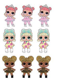Dani Ferrari: Arquivo tiaras L.L para imprimir - 6th Birthday Parties, Baby Birthday, Lol Doll Cake, Doll Party, Boutique Hair Bows, Lol Dolls, Fabric Dolls, Paper Dolls, Bottle Cap Images