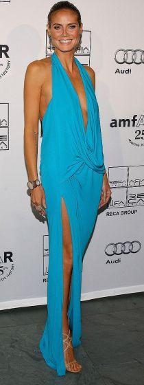 Heidi Klum at the amfAR Inspiration Gala on June 14, 2011