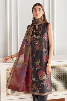 Pakistani Outfits, Print Chiffon, Personalized Products, Baroque, Printed Cotton, Kurti, Trousers, Casual, Clothes