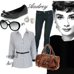 I love Audrey Hepburn's style! She inspires me:)