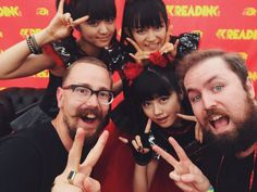@philgkelly   Hanging out with @BABYMETAL_JAPAN and @frankowski at @OfficialRandL ROCK! #kerrangreading15 #kerrangfestival