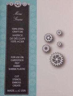 98847 Memory Box 100% Steel Craft Die Mini Gears