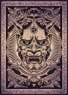 If I were to be chosen for the Ami James tattoo winner it would be this oni mask Hannya Tattoo, Mask Tattoo, Irezumi Tattoos, Japanese Artwork, Japanese Tattoo Art, Japanese Sleeve Tattoos, Japan Tattoo, Hannya Maske, Oni Demon
