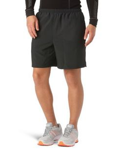 """Mens UA Escape 7 Solid Shorts Bottoms by Under Armour Large Black by Under Armour. $17.99. Ultra-lightweight woven fabric won't hold you down, but remains durable for heavy wear. Mesh internal liner helps moisture escape your running gear, keeping you cool and dry. 360° reflectivity delivers extra safety for low light running situations. Hand pockets hold your essentials when you're on the move. 7"""" inseam. 2.2 oz. Polyester. Imported."""