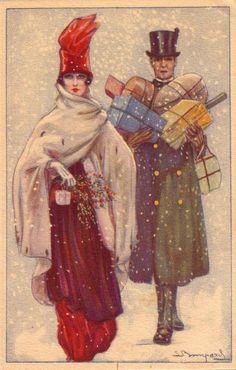 Bompard postcard  Vintage Christmas