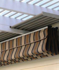 Rain proof & heavy wind resistant pergola cover.   http://www.shadefxcanopies.com/