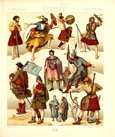 ESCOCIA Author, Scottish Costume, History, French School, Different, Painting, 500 Piece Puzzles, 19th Century, British